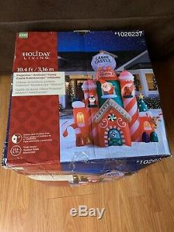 10.5 Ft SANTA'S CANDY CASTLE Christmas Airblown Inflatable