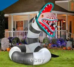 10 FT ANIMATED BEETLEJUICE SANDWORM Airblown Lighted Yard Inflatable