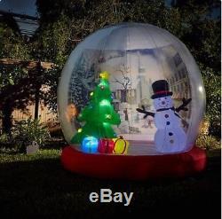 10'FT X 10 FT Inflatable Snow Globe CHRISTMAS DECOR huge