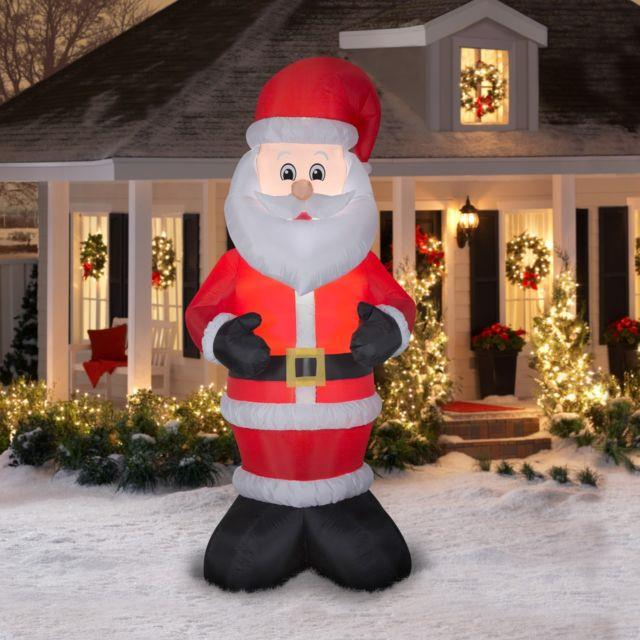 10ft Inflatable Santa Claus Christmas Airblown Yard Holiday Decoration Led Light