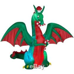 11.5' Dragon with Candy Canes Airblown Christmas Inflatable