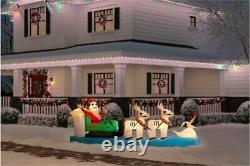11.5 ft. Inflatable Colossal Jack Skellington Sleigh Scene Lights Up Exclusive