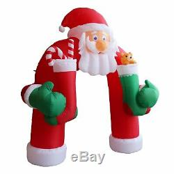 11 Christmas Huge Commercial Inflatable Santa Arch Archway Blown Air Outdoor