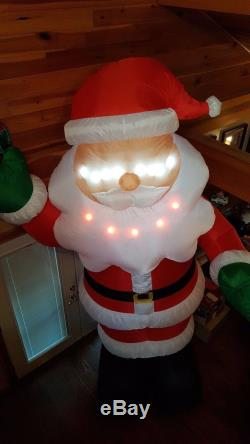 11 FT LIGHTSYNC SINGING SANTA PROTOTYPE Airblown Yard Inflatable MOUTH MOVES