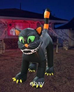 11 Foot Animated Halloween Air Blown Inflatable Yard Decoration Black Cat Decor