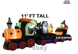 11' Halloween Train Air Blown Inflatable Lighted LED Yard Decor