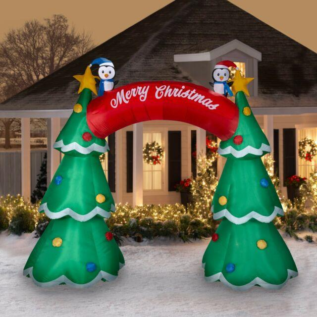 12 Ft Christmas Tree Archway Airblown Lighted Yard Inflatable