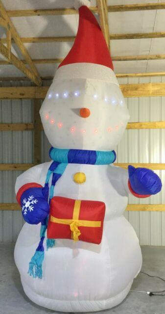 12ft Gemmy Airblown Inflatable Prototype Christmas Lightsync Snowman #37641