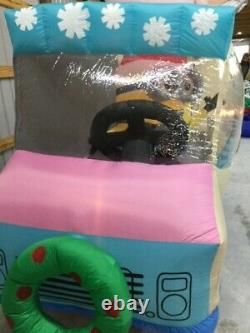 12ft Gemmy Airblown Inflatable Prototype Christmas Minions Let It Snowcone#17582