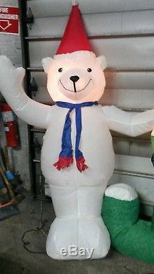 13 ft Christmas Inflatable Giant Joy Sign With Polar Bear & Penguin Lights Gemmy