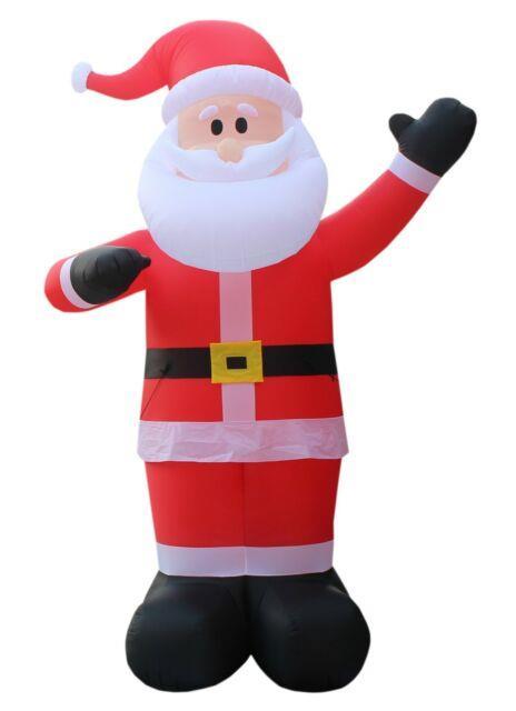 14 Foot Tall Lighted Christmas Air Blown Inflatable Santa Claus Yard Decoration