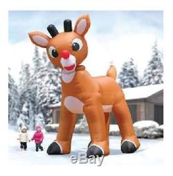15 Ft Rudolph Red Nose Reindeer Santa Airblown Inflatable Christmas Yard Decor