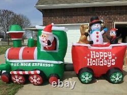 16ft Gemmy Airblown Inflatable Prototype Christmas Train Colossal #38363