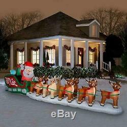 17.5' Rudolph Santa Sleigh Airblown Christmas Inflatable