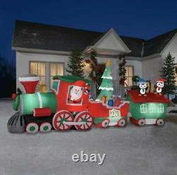 17 FT COLOSSAL SANTA'S TRAIN Christmas Airblown Lighted Yard Inflatable