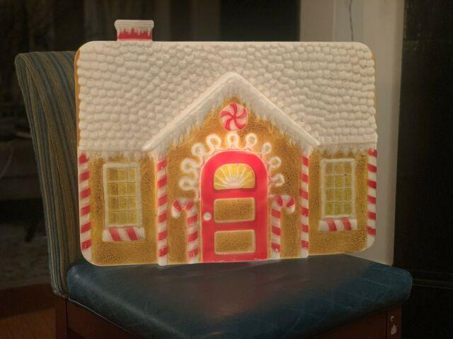 1994 Don Featherstone Ginger Bread Gingerbread House Blow Mold Lightup Vintage