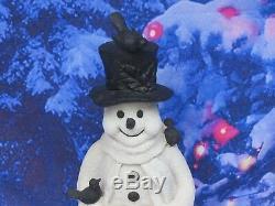 2-1/2 Ft Tall Heavy Resin Snowman Christmas/holiday Bird Bath/feeder Yard Decor
