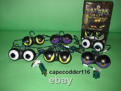 2 Sets Halloween Lights Peep N Peepers Outdor Bushes Party Spooky Evil Eyeballs