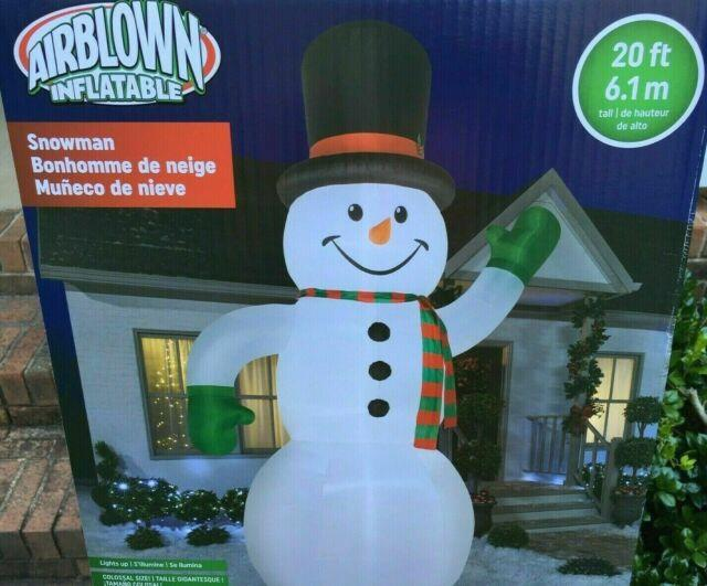20 Ft Snowman Gemmy Airblown Christmas Inflatable