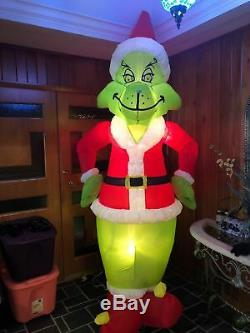 2000 Gemmy 8 Ft Grinch Christmas Airblown Inflatable Light Up Yard Decor