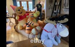 2004 Winnie The Pooh, Tigger, Eeyore Gemmy Christmas Airblown Inflatable