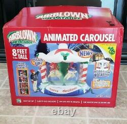 2005 GEMMY AIRBLOWN Christmas Musical Light Rotating CAROUSEL Inflatable NIB