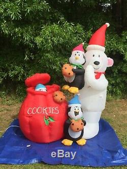 2015 Gemmy 6.5' Tall Animated Cookie Jar Lighted Christmas inflatable Blow up