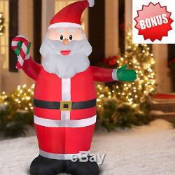 2017 Santa Claus Christmas Outdoor Decor 7' Airblown Inflatable LED Lighted Yard