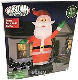20ft Colossal Christma Santa Claus Airblown Inflatable Led Yard Decor