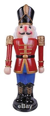 3 FT ANIMATED NUTCRACKER SOLDIER BLUE OUTDOOR CHRISTMAS YARD Decor Blow Mold