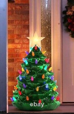 3 Ft Mr Christmas Blow Mold Led Lighted Yard Decor