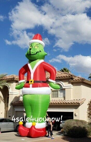 30' Foot Massive Inflatable Grinch How The Grinch Stole Christmas Custom Made