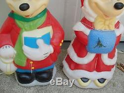 34 Disney Mickey & Minnie Mouse Lighted Christmas Outdoor Blow Mold Yard Decor