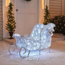 36 3D LED Lighted Twinkling Sleigh Sculpture Outdoor Christmas Decor