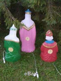 36 General Foam Wisemen Kings Nativity Christmas Blow Mold Light Yard Decor