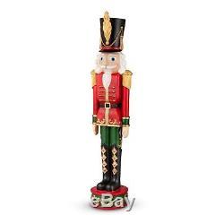 36 Set of 2 Nutcracker Toy Soldier Statues Sculptures Outdoor Christmas Decor