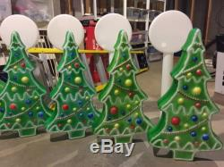 39 Lot Blowmold Christmas Santa's Best Noma TPI Reindeer Green Tree Lolly Pop