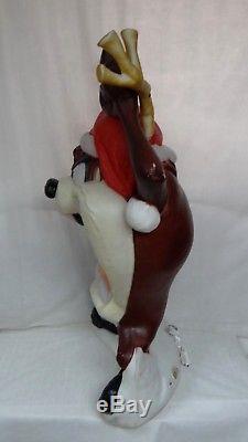 40 Santas Best Taz Tasmanian Devil Lighted Christmas Blow Mold Outdoor Yard