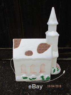 41 Church Chapel Blow Mold Light Empire Vintage Outdoor Christmas Decor