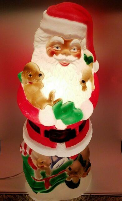 42 Lighted Blow Mold Santa With Puppies Christmas Decor Free Shipping Htf