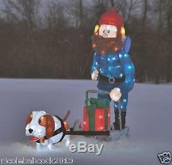 42 Yukon Cornelious Dog Sled Christmas Lighted Isle Misfit Toys Yard Decor
