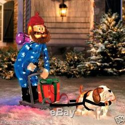 42 Yukon Cornelious Dog Sled Christmas Lighted Isle Misfit