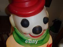 46 EMPIRE Large Snowman Frosty Christmas Blow Mold Light Yard Decor