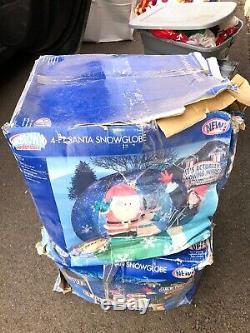 4ft Santa Snow Globe Airblown Inflatable Christmas Rare Htf Bnib