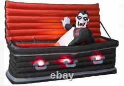 5.5' Gemmy Airblown Animated Inflatable Vampire from Rising Coffin ORIGINAL