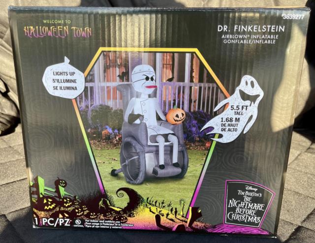 5.5 Ft Dr. Finkelstein The Nightmare Before Christmas Airblown Inflatable