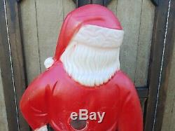 5' Foot Blow Mold Santa Claus General Foam Plastic 60 inch