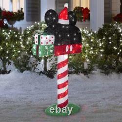 50 Christmas Disney Animated Tinsel Santa Mickey Mouse Mailbox Yard Decor
