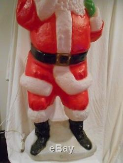 54 Santa Claus Lighted Christmas Blow Mold Outdoor Yard Decour