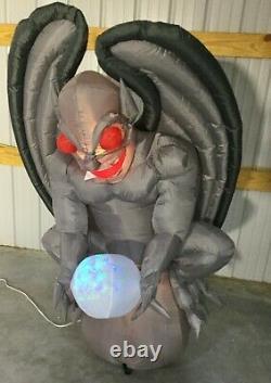 5ft Gemmy Airblown Inflatable Prototype Halloween Gray Gargoyle #73895